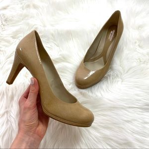 Naturalizer N5 Comfort Nude Gloss High Heels | 9